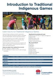 Introduction to Traditional Indigenous Games - NSW Sport and ...