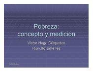 Pobreza: concepto y medición - Academia de Centroamérica