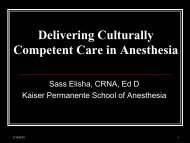 Delivering Culturally Competent Care in Anesthesia - California ...