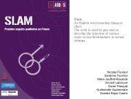 Injection de drogues (« Slam ») chez les gays ... - VectWeb SM