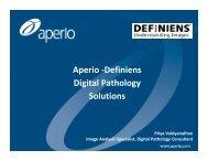 Aperio -Definiens Digital Pathology Solutions
