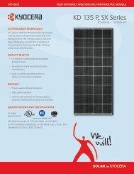 KD 135 P, SX Series - KYOCERA Solar