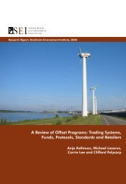 A Review of Offset Programs - Stockholm Environment Institute-US ...