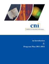 Download PDF of CNI 2011-12 Program Plan