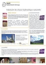 SOCLI Cgny Profile.indd - Ciments Calcia