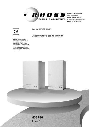 H32786-v01 Manuale Installazione Aurora MB-SE 20-25 - Rhoss