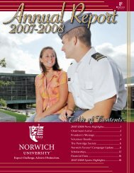 2007-2008 News Highlights .................................1 - Norwich University