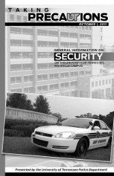 2011 Security Handbook with Statistics - University of Tennessee ...