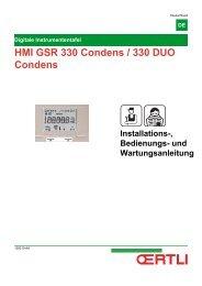 HMI GSR 330 Condens / 330 DUO Condens - Oertli
