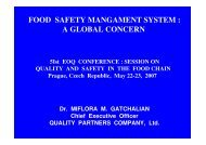 food safety mangament system : a global concern - EOQ