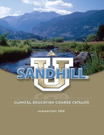 Table of Contents - Sandhill Scientific
