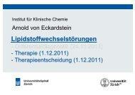 Therapie und Therapieentscheidung - Institut für Klinische Chemie