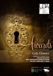 Gala Dinner - Urban Development Institute of Australia