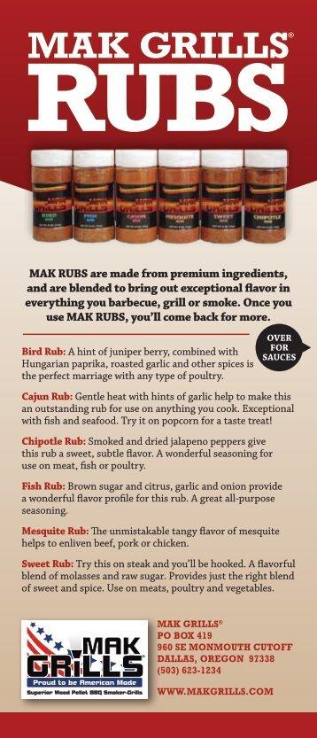 mak grills sauces