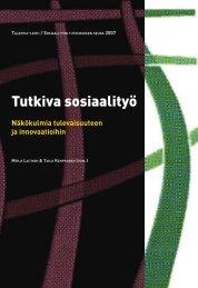 Näkökulmia tulevaisuuteen ja innovaatioihin - Sosiaalityön ...