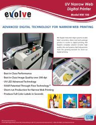 UV Narrow Web Digital Printer - INX International Ink Co.