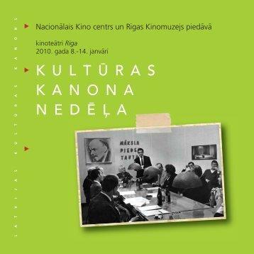 KULTURAS KANONA - Nacionālais Kino centrs