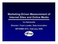Market-Driven Measurement of Internet Sites and ... - INFORMS NY