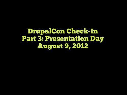 Download slides from this presentation - DrupalCon Munich 2012