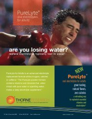 PureLyte for Adults information sheet.