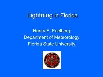 Lightning in Florida - Florida State University