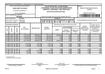 Sprawozdanie RB-28S z wykonania budżetu za okres od początku ...
