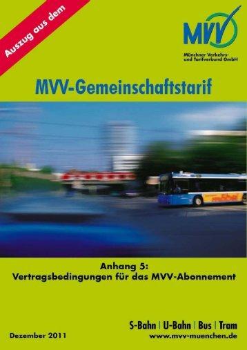 Vertragsbedingungen für das MVV-Abonnement (124 KB)