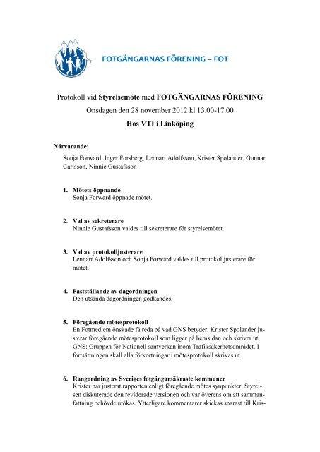 Styrelseprotokoll 121128 - FOT