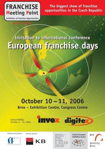 European franchise days European franchise ... - Franchise PORTAL