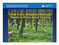 Woodland Managers Grazing Basics - Department of Natural ...