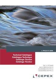 Catálogo Técnico Accesorios PVC Cepex - Poolaria