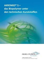 A3 AKROMID S Produktprogramm (deutsch) - AKRO-PLASTIC GmbH