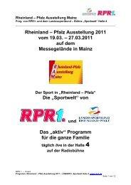 Rheinland – Pfalz Ausstellung 2011 vom 19.03. – 27.03 ... - LifePR.de