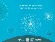 Delimitación de las zonas metropolitanas de México - Inegi