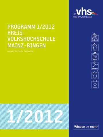 Download Programm 2012/1 - VHS Manager