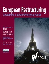 Towards a Level Playing Field - Turnaround Management ...