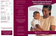 sisters of Charity Hospital 2010 Childbirth Classes - Catholic Health ...