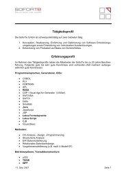 Tätigkeitsprofil Erfahrungsprofil - Jobboerse.de