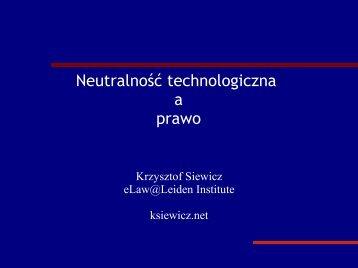 Neutralność technologiczna a prawo