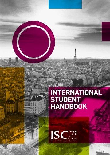 International Student Handbook - ISC Paris