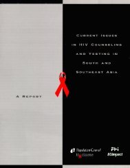 Current Issues in HIV Counseling and Testing in - Family Health ...