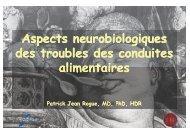 Aspects neurobiologiques des troubles des conduites alimentaires