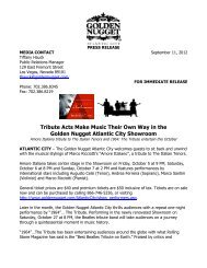 Tribute Acts Make Music Their Own Way In The Golden Nugget