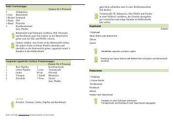 Kalte Gurkensuppe Zutaten für 4 Personen 2 Salatgurken 1 Liter ...