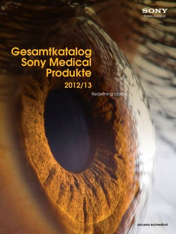 Gesamtkatalog Sony Medical Produkte