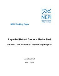 Liquefied Natural Gas as a Marine Fuel - Great Lakes Maritime ...