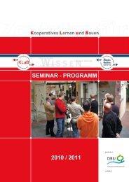 SEMINAR - PROGRAMM 2010 / 2011 - Bau-Medien-Zentrum