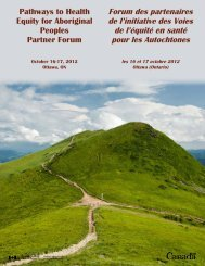 Forum des partenaires de l'initiative des Voies de l'équité en ...