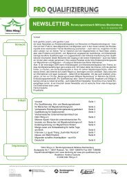 DienHong Newsletter aus Mecklenburg ... - Pro Qualifizierung