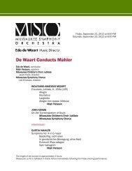 De Waart Conducts Mahler - Milwaukee Symphony Orchestra